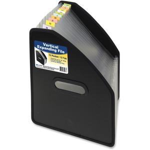 13-Pocket Vertical Expanding File, Letter Size, Black, 1/EA, 588