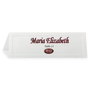 Overtures Traditional Embossed Tent Cards