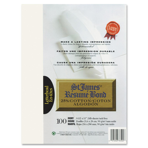 25% Cotton Resume Bond Paper