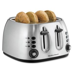 4-Slice Brushed Finish Toaster