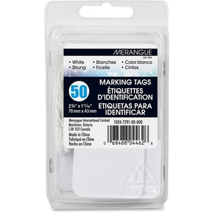 50 Pack White Strung Tags