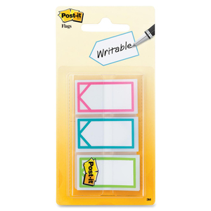 "Assorted Colours 1"" Writable Flag"