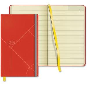 Idea Collective Medium Hardbound Journal, Wide Rule, Red