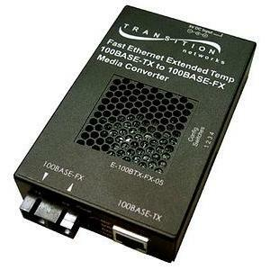 Transition Networks Fast Ethernet Extended Temperature Stand-Alone Media Converter