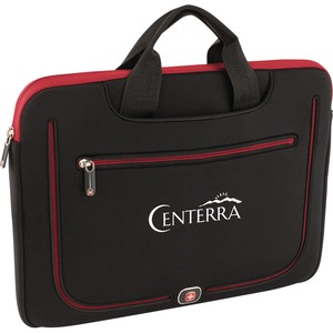"Wenger Resolution Carrying Case (Sleeve) for 15"" MacBook Pro - Black/Red - Scratch Resistant"
