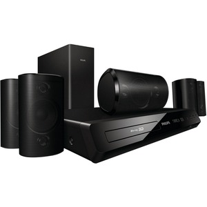 Philips HTS3564 5.1 3D Home Theater System - 1000 W RMS - Blu-ray Disc Player - Dolby TrueHD, DTS HD, DTS-HD Master Audio Essential, Dolby Digital Plus, Dolby Digital 5.1, DTS Digital Surround, DTS-HD High Resolution - BD-RE, DVD+RW, DVD-RW, CD-RW - BD Vi