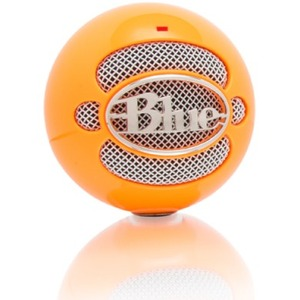 Blue Microphones Snowball USB Microphone - Neon Orange - Omnidirectional Mode w/ Tripod Mic Stand