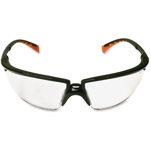 3M Privo Unisex Protective Eyewear - Comfortable, Anti-fog, Uv Resistant, Nose Bridge - Standard Size - Ultraviolet Protection - Polycarbonate Lens - Orange, Clear, Black - 1 Each