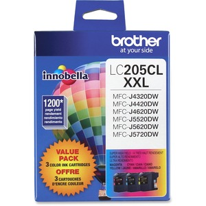 Brother INNOBELLA™ Super High Yield 1 200 Pages 3-PACK Cyan Magenta Yellow Colour Ink Cartridge