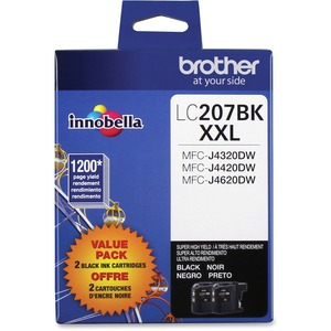 Brother 2-PACK LC207BKS INNOBELLA™ Super High Yield 1 200 Pages Black Ink Cartridgefor MFC-J4420DW