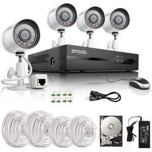 Zmodo Surveillance ZP-KE1T04-S-1TB 4Channel All-in-One 720P sPoE NVR Kit with 1TB HDD CAMERA