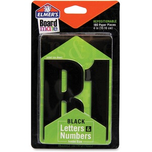 Board Mate Repositionable Jumbo Paper Letters & Numbers