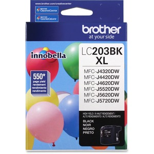 Brother LC203BKS INNOBELLA™ High Yield 550 Pages Black Ink Cartridge for MFC-J4620DW / J5620DW
