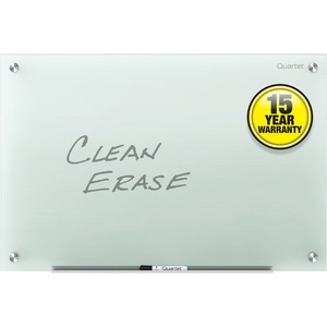 Acco Brands Corporation Quartet Infinity Glass Dry-erase Board - 48 (4 Ft) Width X 36 (3 Ft) Height - Frost Tempered Glass Surface - Horizontal/vertical - 1 / Each