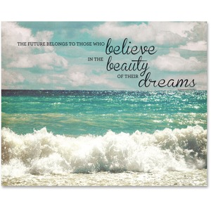 Believe Motivational Canvas Print