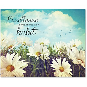 Excellence Motivational Canvas Print