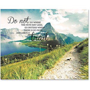 Leave A Trail Motivational Canvas Print