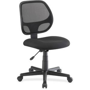 Lorell Multi-task Chair - Fabric Black Seat - Black Back - 5-star Base - Black - 19.25 Seat Width X 18.25 Seat Depth - 23.3 Width X 25.5 Depth X 39 Height