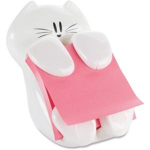Pop-up Note Dispenser, Cat Shape, White