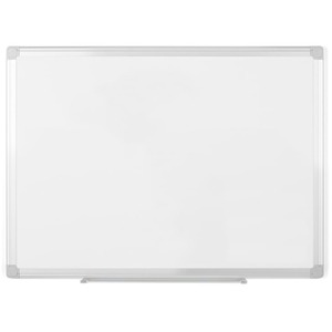 Bi-silque S.a Mastervision Easyclean Dry-erase Board - 36 (3 Ft) Width X 48 (4 Ft) Height - White Aluminum Surface - Silver Frame - Wall Mount - 1 Each