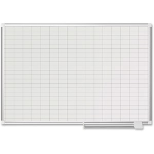 1x2 Grid Line Magnetic Pure White Plan Board