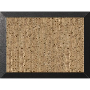 Bi-silque S.a Mastervision Kamashi Natural Cork Personal Board - 18 Height X 24 Width - Cork Surface - Lightweight, Beveled Edge - Black Wood Frame - 1 Each