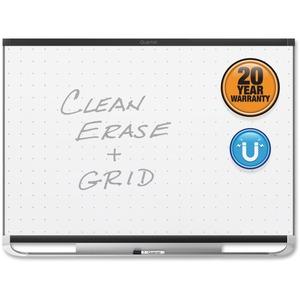 Acco Brands Corporation Quartet® Prestige® 2 Total Erase®magnetic Whiteboard, 4 X 3, Black Aluminum Frame - 48 (4 Ft) Width X 36 (3 Ft) Height - White Magnetic Surface - Black Aluminum Frame - Horizontal - 1 Each