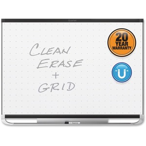 Acco Brands Corporation Quartet® Prestige® 2 Total Erase®magnetic Whiteboard, 8 X 4, Black Aluminum Frame - 96 (8 Ft) Width X 48 (4 Ft) Height - White Magnetic Surface - Black Aluminum Frame - Horizontal - 1 Each