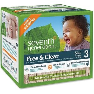 Seventh Generation Baby Free  Clear Stage 3 Diaper