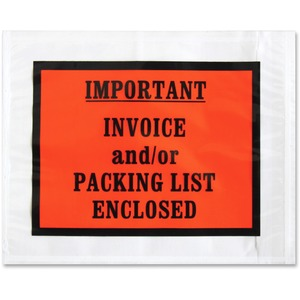 Pre-labeled Important Invoice Envelopes