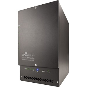 Iosafe NAS 1515+ Expansion 10TB (5 X 2TB WD Red) Fireproof Waterproof 5 Year Data Recovery 5-BAY NAS