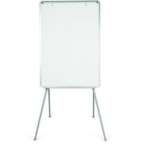 Bi-silque S.a Mastervision Quadpod Presentation Easel - 28 (2.3 Ft) Width X 40.5 (3.4 Ft) Height - White Surface - Gray Aluminum Frame - Rectangle - Floor Standing, Tabletop - 1 Each