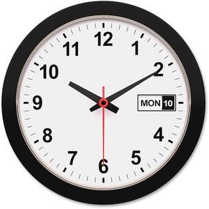 "12"" Round Black Frame Wall Clock"