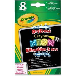 Washable DryErase Neon Crayons