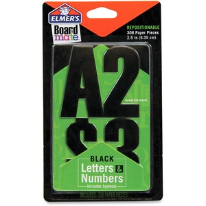Black Letters Numbers and Symbols Stickers