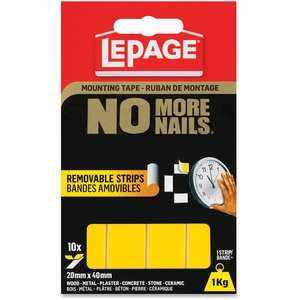 No More Nails Removable Tape Permanent Strips