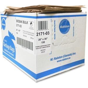 2100 Series Compostable Brown Trash Bags
