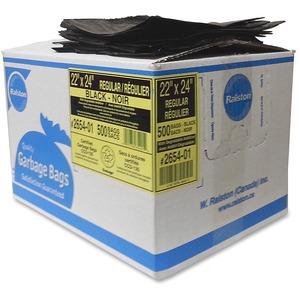 Black Regular-Strength Industrial Bags