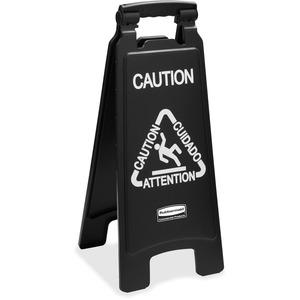 Folding Multilingual Caution sign