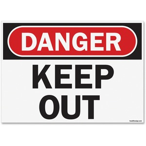 OSHA Danger Keep Out Safety Sign