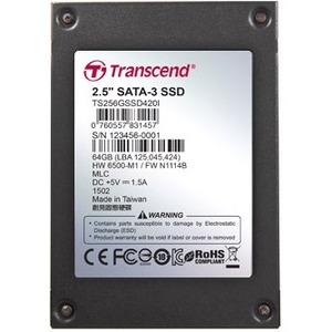 Transcend 2.5in SSD420 SATA3 MLC Ind (64GB) NEW!!