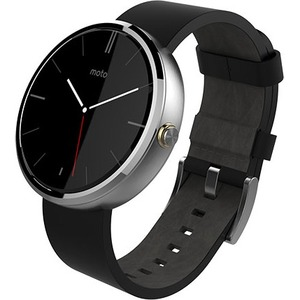 MOTOROLA MOTO360 WATCH LEATHER STONE GRAY