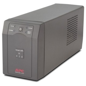 SCHNEIDER ELECTRIC SMART-UPS SC 420VA 120V LINE-INT 4OUTLETS 5-15P INPUT GRAY