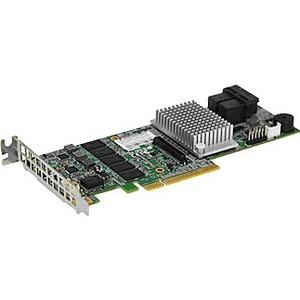 Supermicro AOC-S3108L-H8IR-16DD 8PORT LP SAS 12GBPS GEN3 RAID 0 1 10 5 6 50 60 Controller