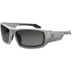 Tenacious Holdings, Inc Ergodyne Odin Smoke Lens/gray Frame Safety Glasses - Durable, Flexible, Non-slip, Scratch Resistant, Anti-fog, Perspiration Resistant, Comfortable - Ultraviolet Protection - Polycarbonate Lens, Nylon Frame, Polycarbonate Temple, Ru