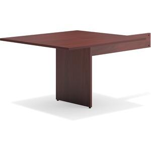 Mahogany Slab Base End Table