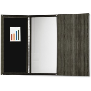 Mayline Group Mayline Gray Laminate Presentation Bulletin Board - White Surface - 1 Each
