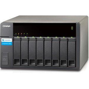 QNAP 8-BAY Thunderbolt 2 Storage Expansion Enclosure With Two Thunderbolt 2 Ports for TVS-871T