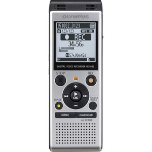 Olympus WS852 4GB Internal Memory With MicroSD Card Slot Voice Recorder - Silver