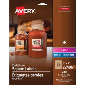 Kraft Brown Square Labels